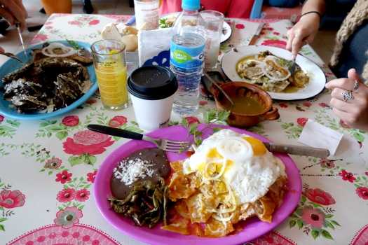 Chilaquiles in Mexico City.