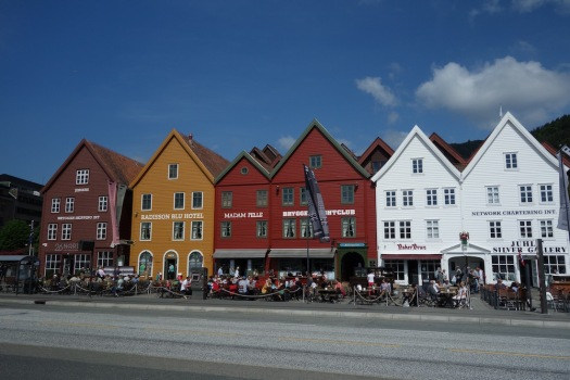 The old wharf of Bergen