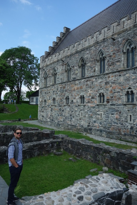Daniel at the Bergenhus Fortress