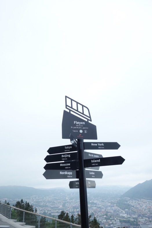 Mount Fløyen Signs