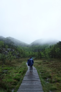 Rainy day in Preikestolen