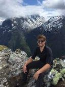 Daniel on top of Nærøyfjord