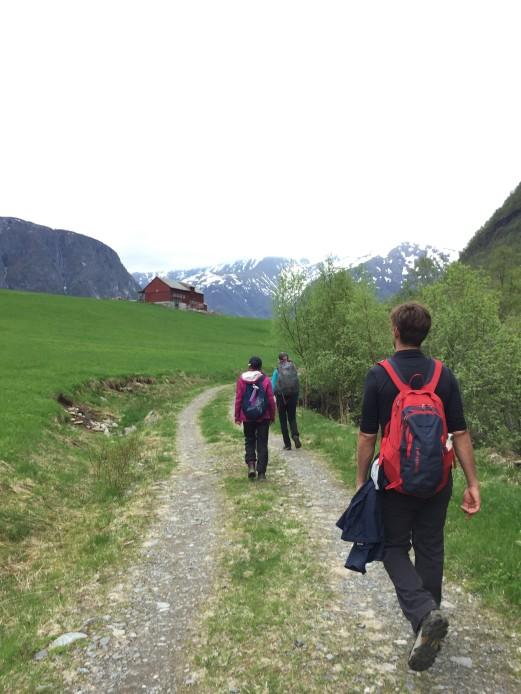 Hiking to Nærøyfjord